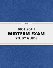 BIOL 204H- Midterm Exam Guide - Comprehensive Notes for the exam ( 69 pages long!)