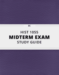 HIST 1055- Midterm Exam Guide - Comprehensive Notes for the exam ( 41 pages long!)