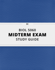 BIOL 5060- Midterm Exam Guide - Comprehensive Notes for the exam ( 171 pages long!)