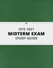 ISYS 1021- Midterm Exam Guide - Comprehensive Notes for the exam ( 33 pages long!)