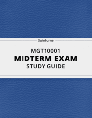 MGT 10001- Midterm Exam Guide - Comprehensive Notes for the exam ( 57 pages long!)