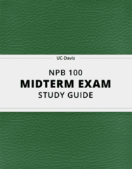 NPB 100- Midterm Exam Guide - Comprehensive Notes for the exam ( 41 pages long!)