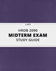 HROB 2090- Midterm Exam Guide - Comprehensive Notes for the exam ( 156 pages long!)