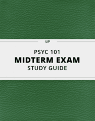 PSYC 101- Midterm Exam Guide - Comprehensive Notes for the exam ( 24 pages long!)