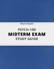 PSYCH-100- Midterm Exam Guide - Comprehensive Notes for the exam ( 37 pages long!)