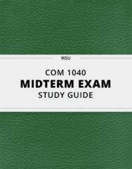 COM 1040- Midterm Exam Guide - Comprehensive Notes for the exam ( 17 pages long!)