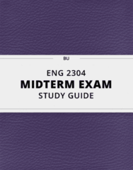 ENG 2304- Midterm Exam Guide - Comprehensive Notes for the exam ( 19 pages long!)