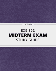 EXB 102- Midterm Exam Guide - Comprehensive Notes for the exam ( 64 pages long!)
