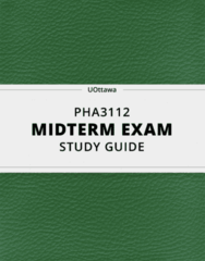 PHA3112- Midterm Exam Guide - Comprehensive Notes for the exam ( 54 pages long!)