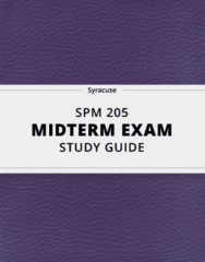 SPM 205- Midterm Exam Guide - Comprehensive Notes for the exam ( 47 pages long!)