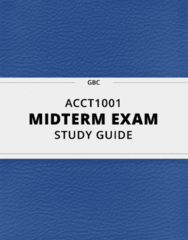 ACCT1001- Midterm Exam Guide - Comprehensive Notes for the exam ( 56 pages long!)