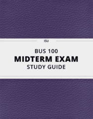 BUS 100- Midterm Exam Guide - Comprehensive Notes for the exam ( 47 pages long!)