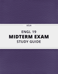 ENGL 19- Midterm Exam Guide - Comprehensive Notes for the exam ( 19 pages long!)