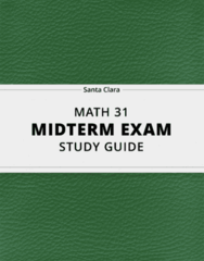 MATH 31- Midterm Exam Guide - Comprehensive Notes for the exam ( 23 pages long!)