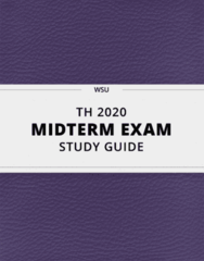 TH 2020- Midterm Exam Guide - Comprehensive Notes for the exam ( 16 pages long!)