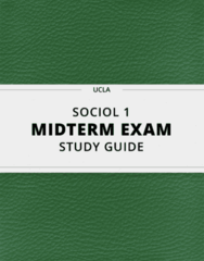 SOCIOL 1- Midterm Exam Guide - Comprehensive Notes for the exam ( 29 pages long!)