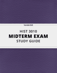 HIST 3010- Midterm Exam Guide - Comprehensive Notes for the exam ( 171 pages long!)