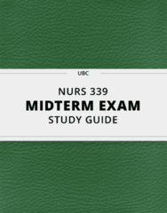 NURS 339- Midterm Exam Guide - Comprehensive Notes for the exam ( 16 pages long!)