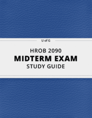 HROB 2090- Midterm Exam Guide - Comprehensive Notes for the exam ( 52 pages long!)