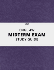 ENGL 4W- Midterm Exam Guide - Comprehensive Notes for the exam ( 29 pages long!)