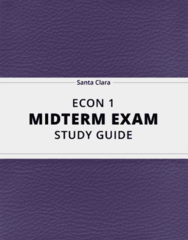 ECON 1- Midterm Exam Guide - Comprehensive Notes for the exam ( 13 pages long!)