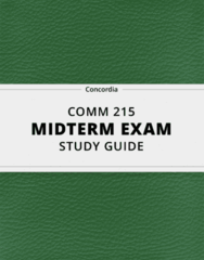COMM 215- Midterm Exam Guide - Comprehensive Notes for the exam ( 34 pages long!)