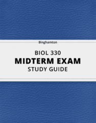 BIOL 330- Midterm Exam Guide - Comprehensive Notes for the exam ( 81 pages long!)