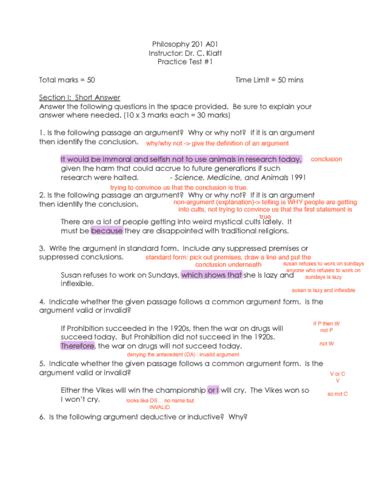Phil 201 Quiz Practicetest1pdf Oneclass