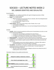 SOC 633 Lecture Notes - Lecture 2: Sexual Identity, Herbert Blumer, William Simons