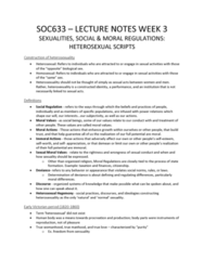 SOC 633 Lecture Notes - Lecture 3: Heterosexuality, True Women, Human Body