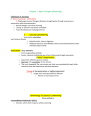 PSYC 101 Lecture Notes - Lecture 7: Operant Conditioning Chamber, Sexual Fetishism, Reinforcement