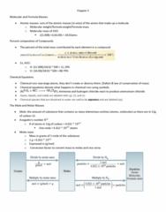 CHE 201 Chapter Notes - Chapter 3: Ammonium Chloride, Molar Mass, Molecular Mass
