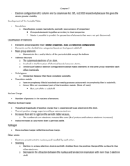 CHE 201 Chapter Notes - Chapter 7: Effective Nuclear Charge, Valence Electron, Covalent Radius