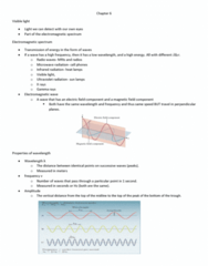 CHE 201 Chapter Notes - Chapter 6: Electromagnetic Spectrum, Black-Body Radiation, Ultraviolet
