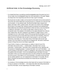 SOC 3116 Lecture Notes - Lecture 5: Knowledge Economy, Disinformation