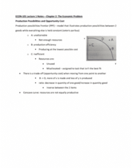 ECON 101 Lecture Notes - Lecture 3: Ceteris Paribus, Opportunity Cost