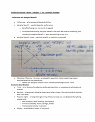 ECON 101 Lecture Notes - Lecture 4: Marginal Utility, Allocative Efficiency, Marginal Cost