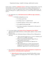 31266 Lecture Notes - Lecture 2: Business Process Management, Process Simulation, Business Process