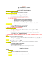 PSYC 101 Lecture Notes - Lecture 8: Short-Term Memory, Episodic Memory, Procedural Memory