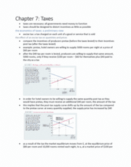 ECON 101 Chapter Notes - Chapter 7: Tax Incidence, Demand Curve, Economic Equilibrium