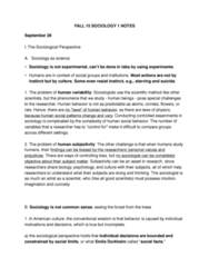 SOCIOL 1 Study Guide - Final Guide: The Sociological Imagination, Nuclear Family, Human Behavior