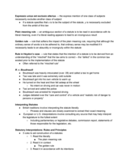 POLS 2350 Chapter Notes - Chapter 3: Plain Meaning Rule, Mischief Rule, Golden Rule