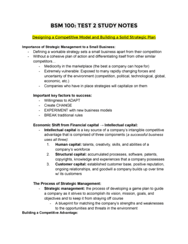 Bsm 100 quiz bsm test 2 study notes oneclass malvernweather Gallery
