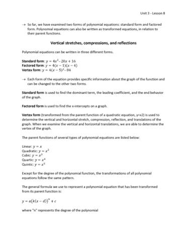 Math 1023 Lecture 8 Unit 3 Lesson 8 Adv Oneclass