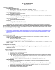 PAT 20A/B Lecture Notes - Lecture 6: Proteinuria, Semipermeable Membrane, Cinacalcet