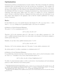 ECO102 Lecture Notes - Lecture 16: Simple Algebra, Directx, Stationary Point