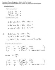 ECO102 Lecture Notes - Lecture 3: Definite Quadratic Form, Expenditure Function, Utility