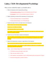 PSYC 101 Study Guide - Quiz Guide: Kindergarten, Menarche, Midlife Crisis