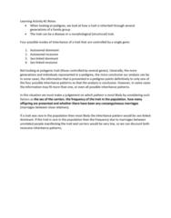 BIOL239 Lecture Notes - Lecture 1: Consanguinity, Quantitative Genetics