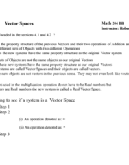 MATH 204 Lecture Notes - Lecture 8: Empty Set, Scalar Multiplication, Vector Space